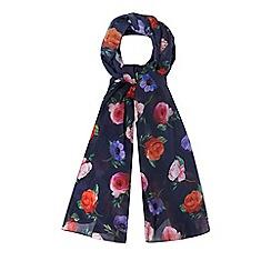 Mantaray - Navy floral print scarf