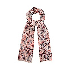Mantaray - Pink floral print scarf in a gift box