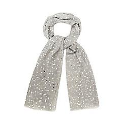 Mantaray - Grey circle print scarf