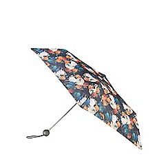 Totes - Supermini 3 section umbrella with a photographic floral print and a globe handle