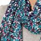 Mantaray - Dark blue ditsy floral scarf Alternative 1