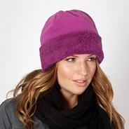 Dark pink fleece hat