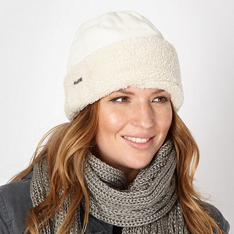 Mantaray - Cream fleece hat