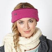 Pink fleece headband