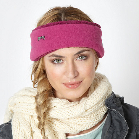 Mantaray - Pink fleece headband