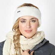 Cream fleece headband