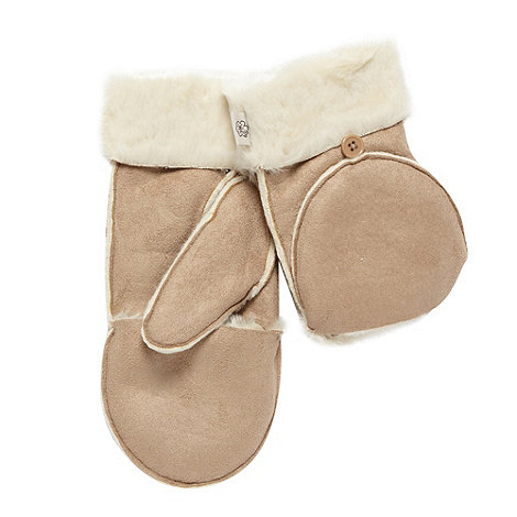 Mantaray - Beige flip top mittens