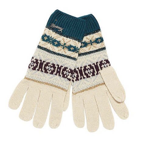 Mantaray - Beige metallic pattern gloves