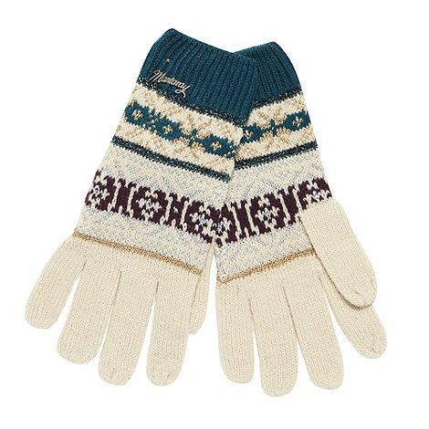 Mantaray - Beige metallic pattern gloves