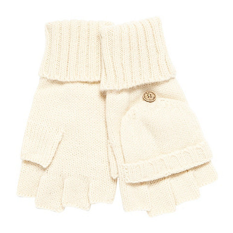 Mantaray - Cream hooded gloves