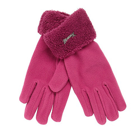 Mantaray - Pink fleece cuff gloves