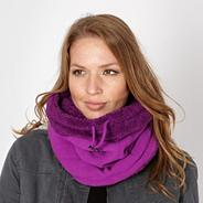 Dark pink fleece snood