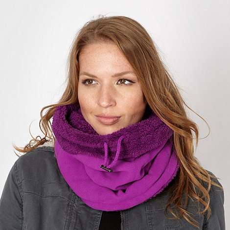 Mantaray - Dark pink fleece snood