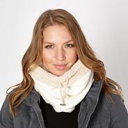 Cream fleece snood