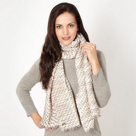 Mantaray - Purple metallic weave scarf