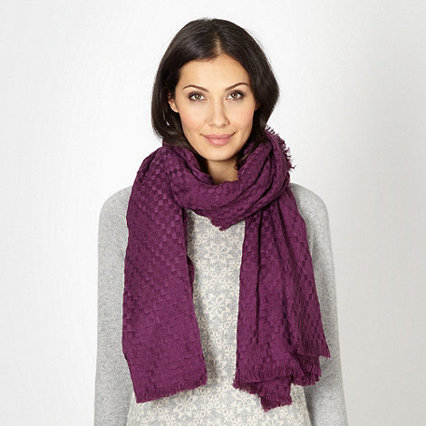 Mantaray - Purple fine weave scarf