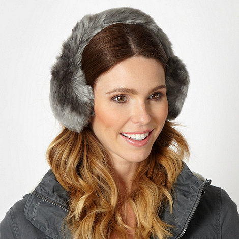 Mantaray - Grey faux fur earmuffs