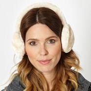 Cream faux fur earmuffs
