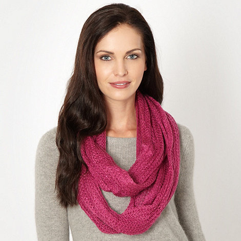 Mantaray - Pink knit snood