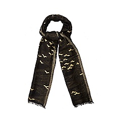 Nine by Savannah Miller - Black swallow print scarf
