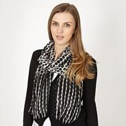 Black ombre spotted scarf