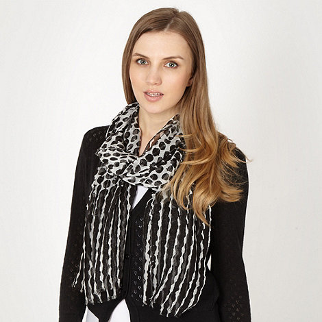 Red Herring - Black ombre spotted scarf