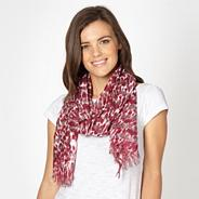Multicoloured animal stripe scarf