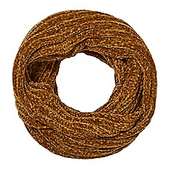 Nine by Savannah Miller - Dark yellow chenille snood