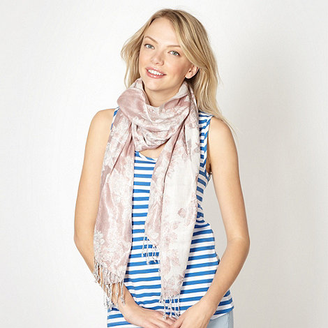 Red Herring - Pink rose jacquard scarf