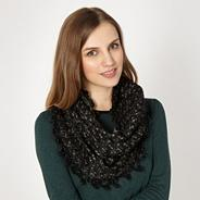 Black layered metallic snood