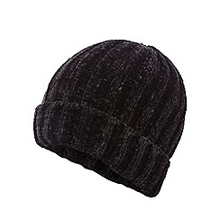 Nine by Savannah Miller - Black chenille beanie