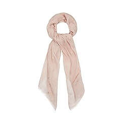 Nine by Savannah Miller - Light pink foil-effect bird print scarf