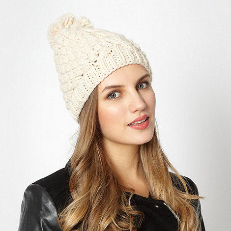 Red Herring - Cream cable knit beanie hat