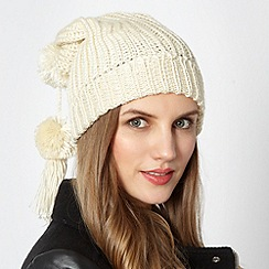 Red Herring - Cream rib knit hat