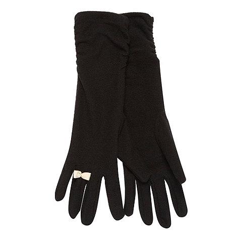 Red Herring - Black long bow ring gloves