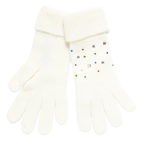 Red Herring - Cream gem gloves