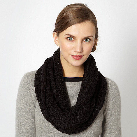 Red Herring - Black knitted snood