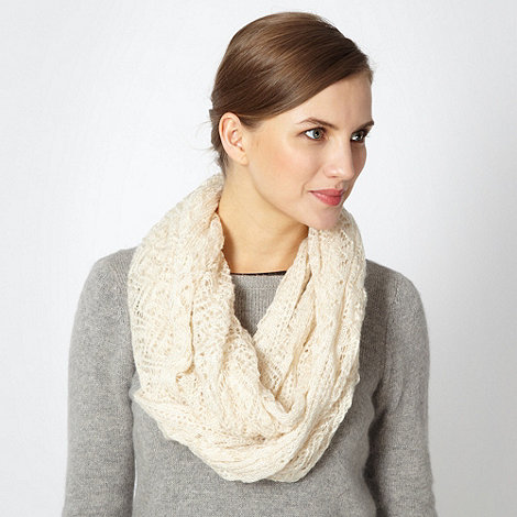 Red Herring - Cream knitted snood