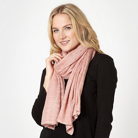 Red Herring - Rose pointelle knit scarf