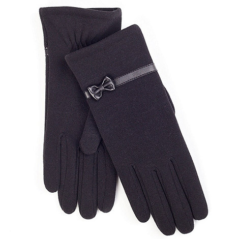 Isotoner - Black classic bow detail thermal gloves