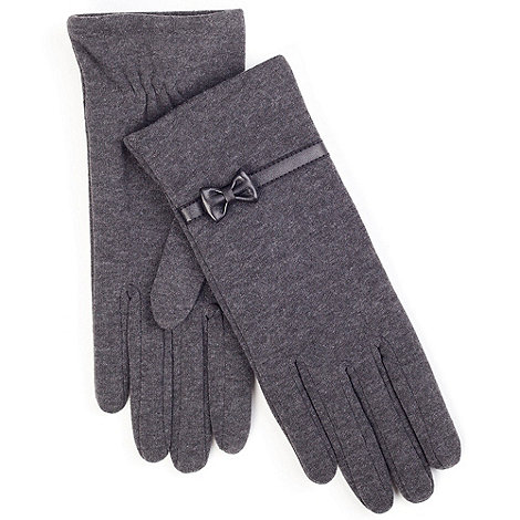 Isotoner - Grey classic bow detail thermal gloves