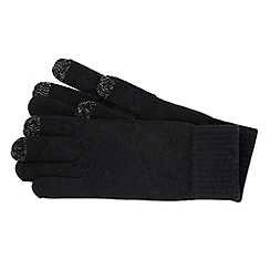 Isotoner - Black knitted smart touch gloves