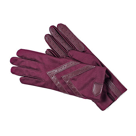 Isotoner - Berry original wonderfit stretch gloves