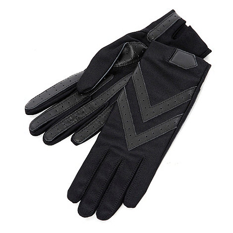 Isotoner - Black original wonderfit stretch gloves
