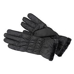 Isotoner - Black gathered gloves