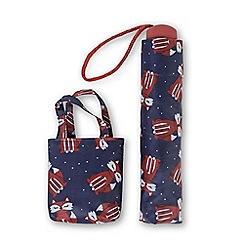 Totes - Fox print supermini umbrella with matching folding shopper bag