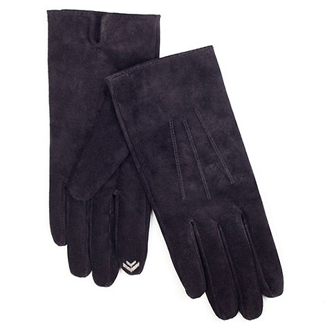 Isotoner - Black suede smartouch gloves