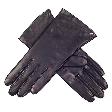 Paris by Isotoner - Black elegant smooth leather gloves with luxurious silk lining