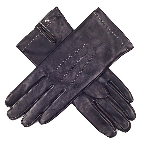 Paris by Isotoner - Black hand stitch leather gloves with luxurious silk lining