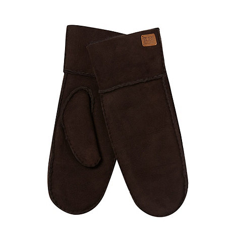 Just Sheepskin - Dark brown sheepskin mittens